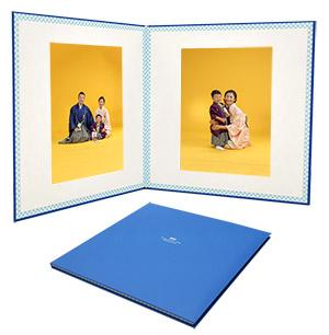 2面写真台紙(いろかさね)サイズ6切り、不織布。全3色